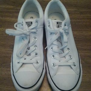 Leather Converse size 7d